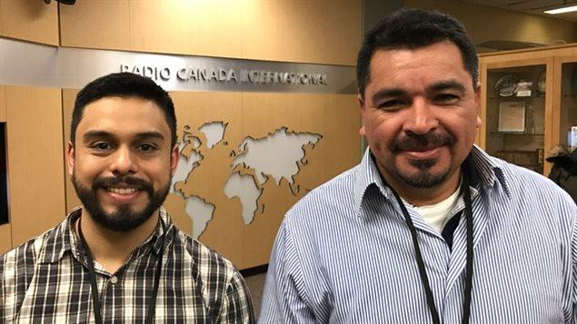 Javier Mejía, economista del Centro Humboldt de Nicaragua, y Bernardo Belloso, presidente de la Asociación para el Desarrollo de El Salvador.