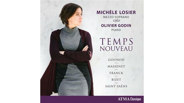 Pochette de l'album <i>Temps nouveau</i> de Michèle Losier, paru sous étiquette Atma Classique