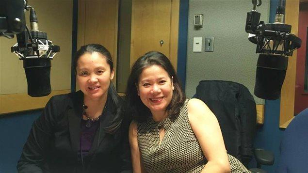 À gauche, la productrice du documentaire Une nuit sans lune Thi Be Nguyen; à droite, une des protagonistes du film, l'ingénieure et formatrice, Zoonie Nguyen.