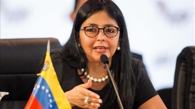 La canciller de Venezuela, Delcy Rodríguez.
