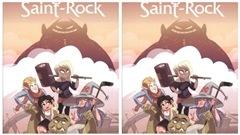La bande dessinée Le Seigneur de St-Rock , de Francis Desharnais