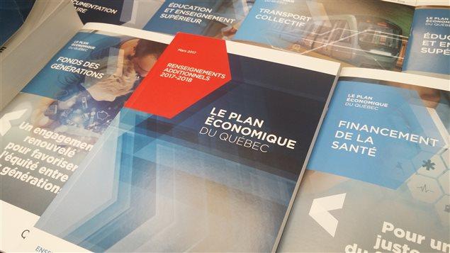 Documents du budget du Québec 2017