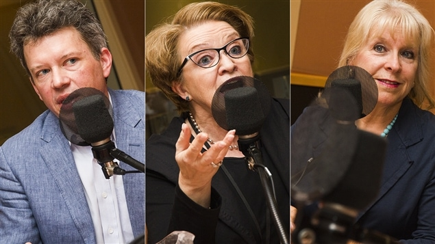 Louis Aucoin, Rose-Marie Charest et Diane-Gabrielle Tremblay