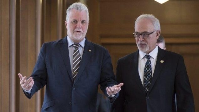 رئيس حكومة كيبيك مع وزير المال