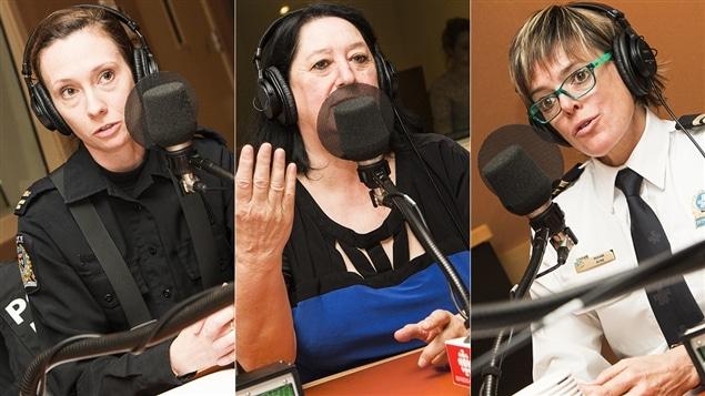 Marie Beauvais, Nicole Juteau et Roxanne Pitre