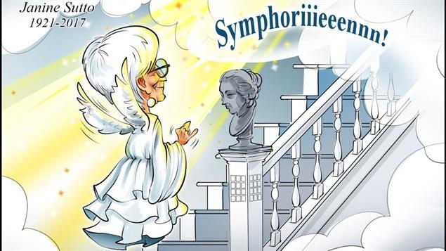 Une caricature en hommage de Janine Sutto.