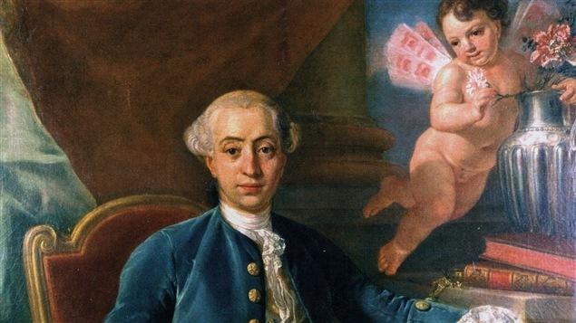 Giacomo Casanova par Raphaël Mengs en 1760