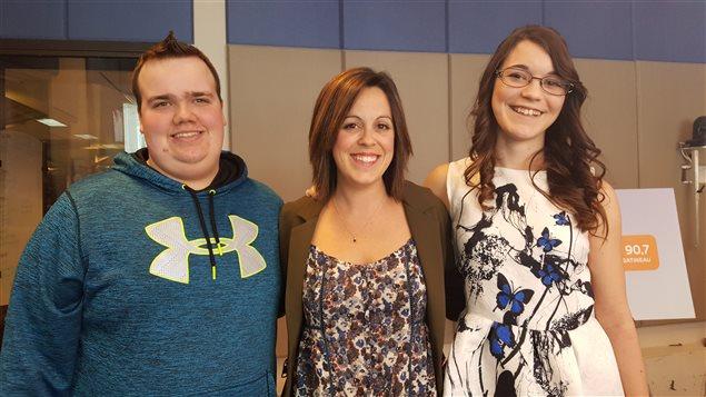Sarah Lee-Bertrand et Tyler Lasalle, de l'École secondaire Sieur-de-Coulonge.