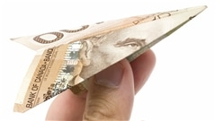 Billet de banque en forme d'avion