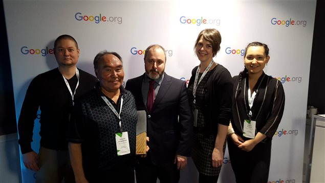 SIKU project team (left to right) Phillipe Blais, Lucassie Arragutainaq, Joel Heath, Misha Warbanski and Kristen Kownak