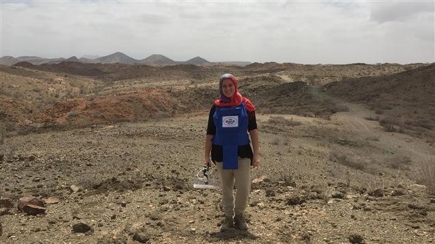 Laurie Druelle au travail dans le Somaliland
