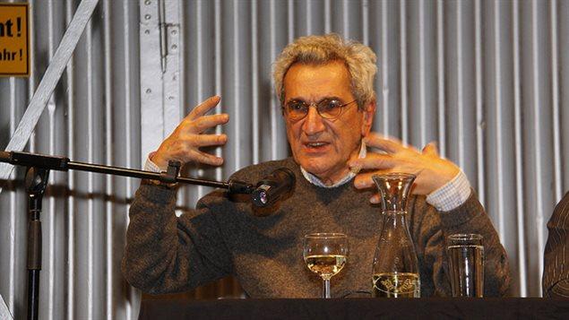 Renowned Italian philosopher Antonio Negri speaks at a lecture in Berlin, on Nov. 21, 2009