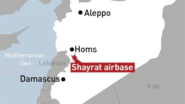 قاعدة الشعيرات القريبة من حمص التي استهدفتها الضربة الأميركيّة