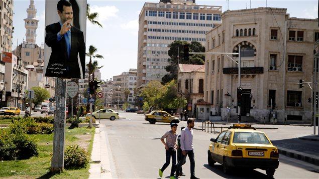 أحد شوارع دمشق بعيدا عن الحرب