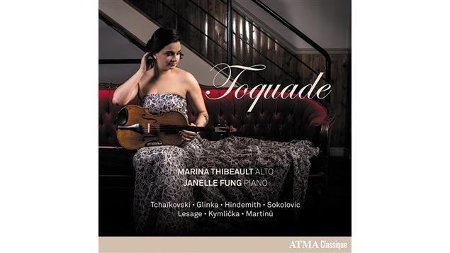 Pochette de l'album <i>Toquade</i> de Marina Thibeault, paru sous étiquette Atma Classique