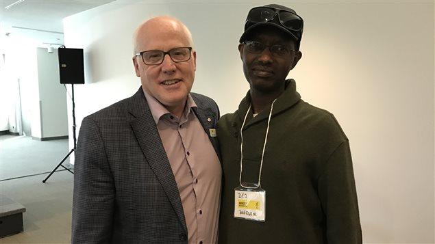 Deo Bugegene avec Alex Neve, Secretaire général d'Amnestie Internationale