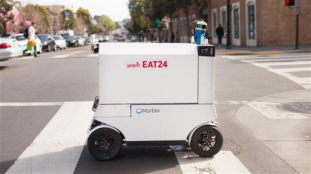 Un robot pour la livraison de repas développé en Californie