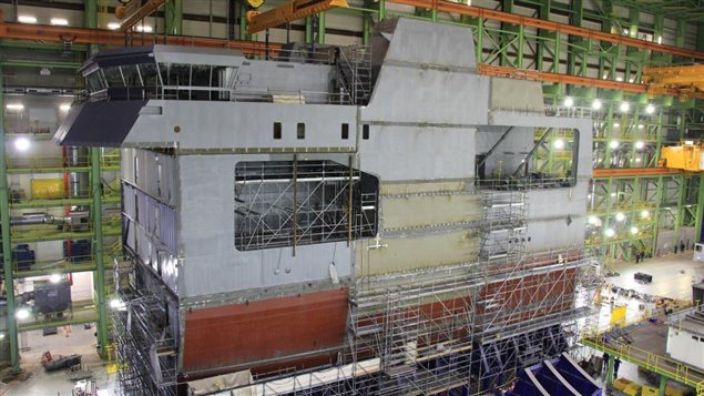 The HMCS Harry DeWolf is being built by Irving Shipbuilding Inc.