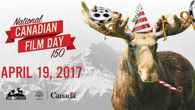 What better than a moose to promote 150 years of Canadian films.