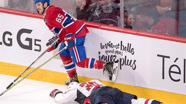 Sept 2016 :The NHL suspended Canadiens forward Andrew Shaw, left, for three pre-season games after his hit against Washington defence prospect Connor Hobbs during the second period of a game in Montreal.