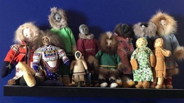 Quelques-unes des poupées faisant partie de la collection d'Adina Tarralik Duffy