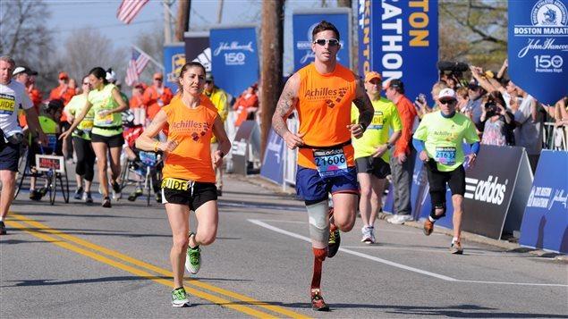 Des participants au marathon de Boston