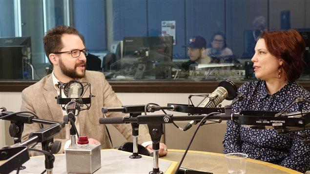 Karine Plouffe et Mathieu D'Amours, professeurs de littérature au Cégep de l'Outaouais.