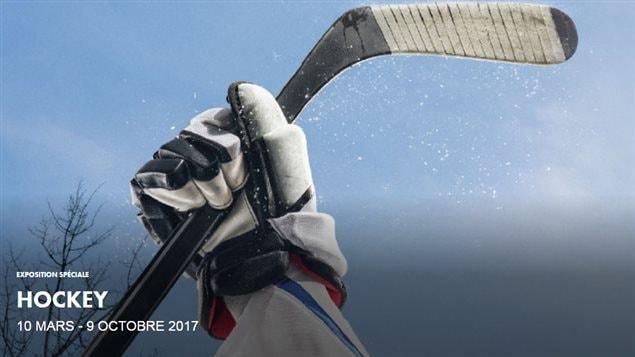 Affiche de l'exposition «Hockey» au Musée canadien de l'Histoire