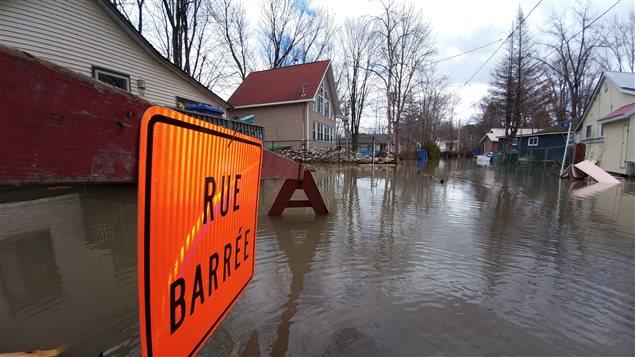 منسوب مياه الأنهار مرتفع في منطقة اوتاوي في غرب مقاطعة كيبيك