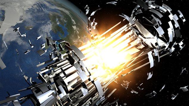 De nouveaux débris spatiaux sont créés lorsque des objets plus volumineux se percutent.