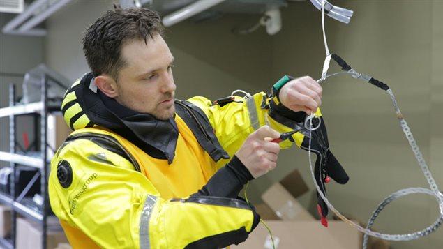 Matthew Bamsey, originaire de Burlinton, pendant la deuxième série de tests d'aptitudes
