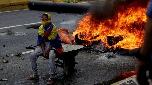 Manifestación de la oposición en Venezuela, 24 de abril 2017.