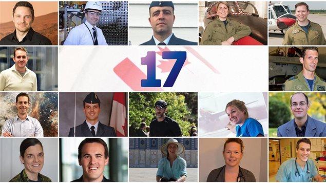 Les 17 finalistes pour le poste d'astronaute canadien !