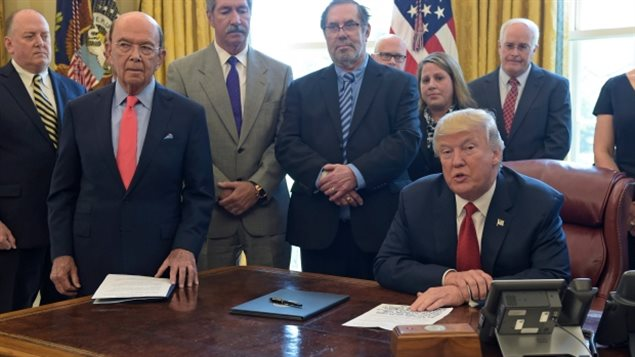 Trump vowed during the signing of an executive order at the White House last Thursday to strike back at Canada for its unfair trade.