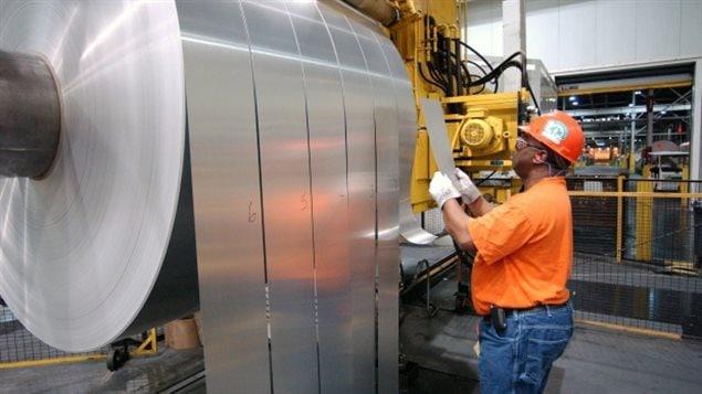 Le secteur de l'aluminium fait partie des cibles du président Trump dans le cadre des négociations commerciales avec le Canada.