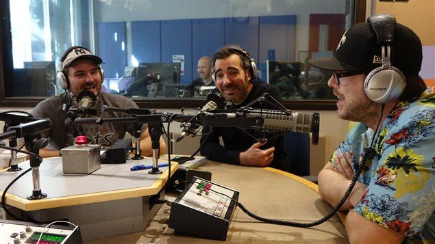Julien Morissette, David Thibodeau et Steven Boivin du festival Transistor.