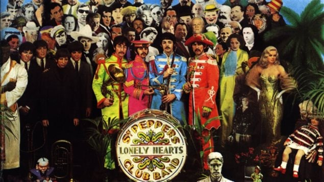Extrait de la pochette de Sgt. Peppers's Lonely Hearts Club Band