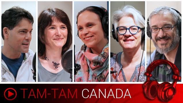 Les animateurs Stéphane Parent, Anne-Marie Yvon, Paloma Martinez, Marie-Claude Simard et Leonardo Gimeno.
