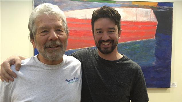 Michel Lalonde, directeur artistique, et Gaetan Benoit, réalisateur du Francothon.