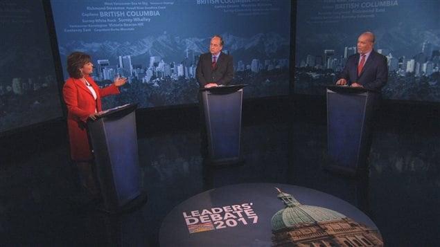 Le débat des chefs avec Christy Clark (Parti libéral), Andrew Weaver (Parti vert) et John Horgan (NPD).
