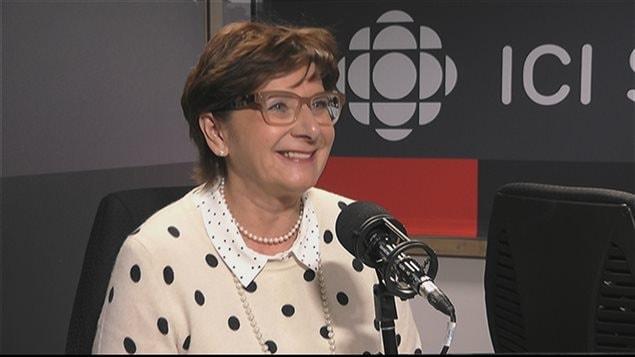 La présidente de l'Assemblée communautaire fransaskoise, Françoise Sigur-Cloutier.