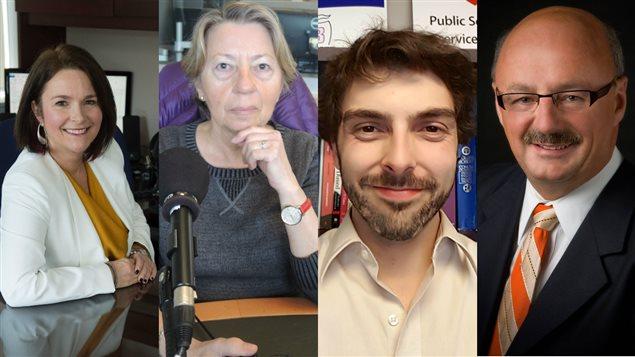 Linda Silas, Michelle Caron, Simon Ouellette et Yvon Godin