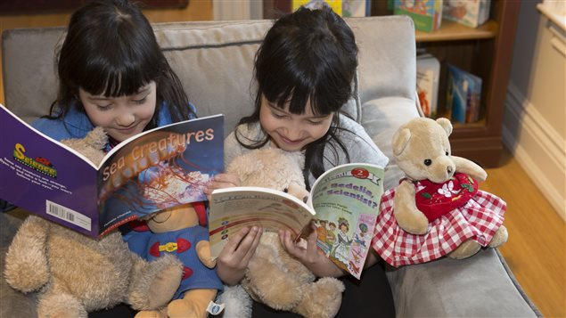 Youngsters can come to the Children's Book Bank in Toronto and choose a book to take home for free.