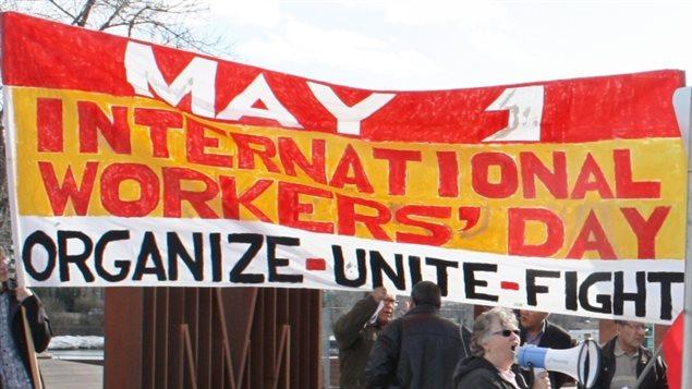 Celebración del primero de mayo, Día Internacional de los Trabajadores en Canadá.