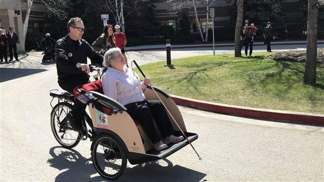 Denise Allard. Un nouveau programme appelé Cycling Without Age
