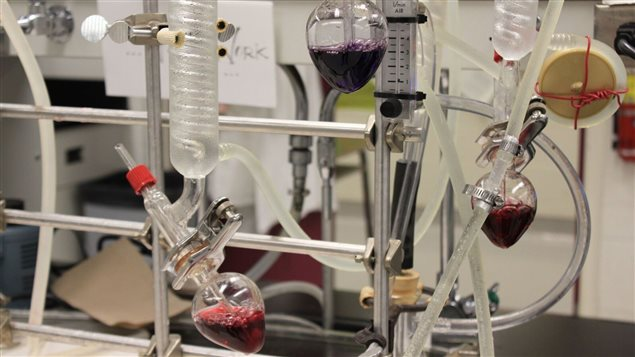 Testing equipment at CCOVI such as for sulphur dioxide content. CCOVI uses a variety of procedures and equipment to test wine quality for the grape and wine industry
