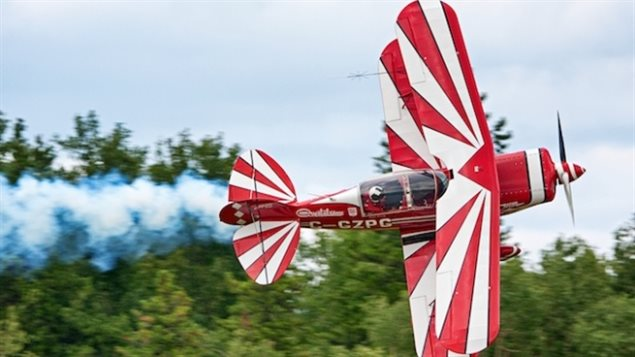 Brent Handy will be among the aerobatic performers touring the Canadian Arctic this summer. The former CF-18 pilot now owns this Pitts S-2.