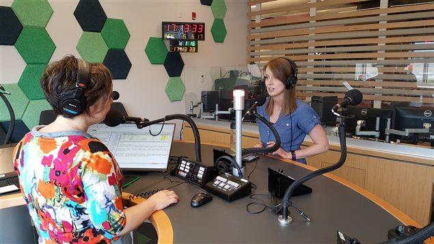 Julie Hachey en entrevue avec Martine Blanchard