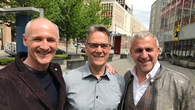 Colm Feore et Patrick Huard avec Jacques Dufresne.