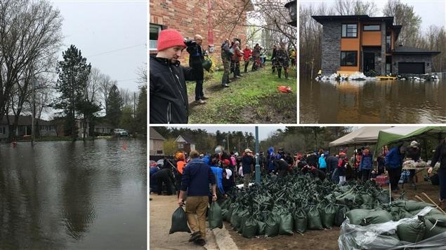 Montage des inondations en Outaouais et à Gatineau